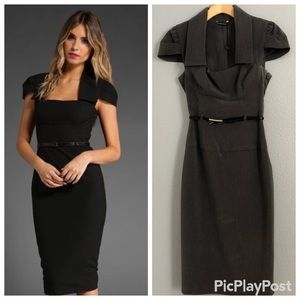 Black Halo gray Pencil dress size 0